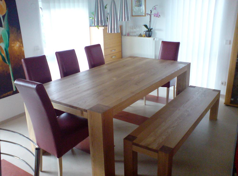 Wälde Esszimmer-Tisch mit Bank