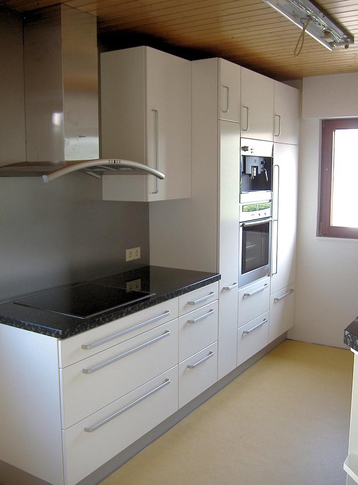 Wälde Küche Weißlack Stangengriff