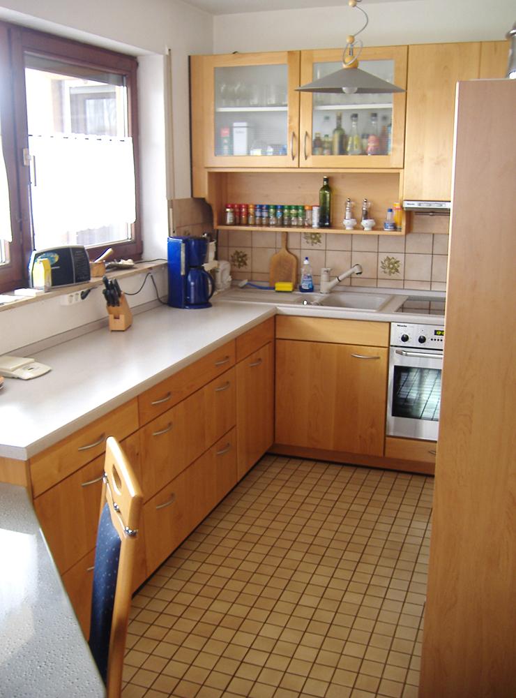 Wälde Küche hell Ahorn UForm